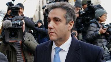 President Donald Trump's former attorney Michael Cohen arrives