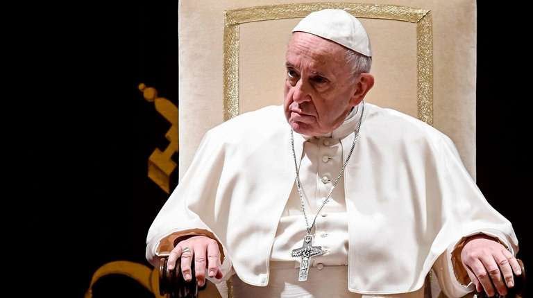 Pope Francis chairs the annual address to the