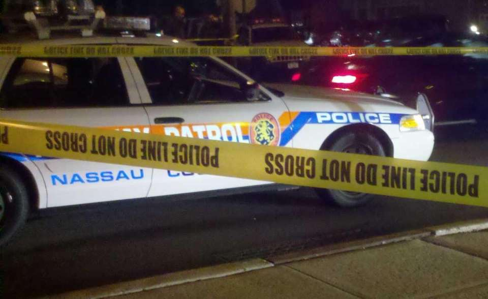 The crime scene on Fourth Avenue in Massapequa