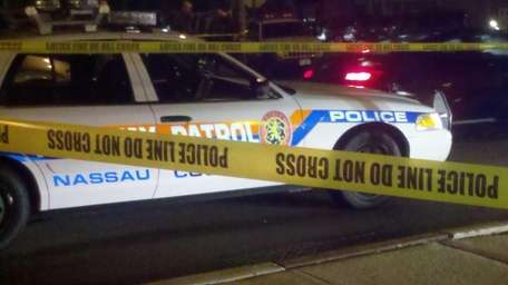 The crime scene on Fourth Avenue in Massapequa