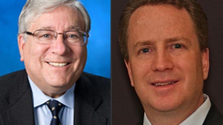 East Hills mayor Michael Koblenz (left) and mayoral