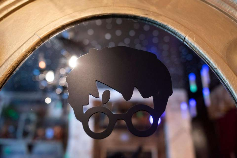 A mirror inside the shop pays homage to