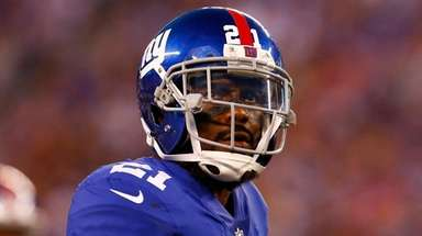 Giants safety Landon Collins looks on against the