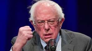 Sen. Bernie Sanders, I-Vt., speaks about his new