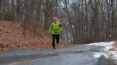 Stefan Judex, of Port Jefferson, runs to his