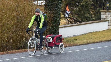 Kevin Motel bicycles to his job at Cycle