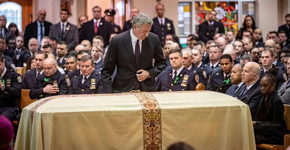 New York Mayor Bill de Blasio at the