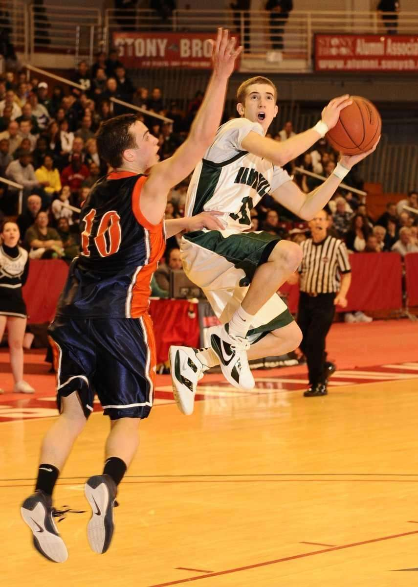 Harborfields' Lucas Woodhouse goes up for two points