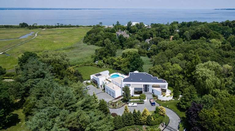 This nearly 9-acre estate has views of the