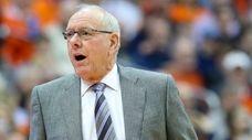 Syracuse head coach Jim Boeheim reacts at the