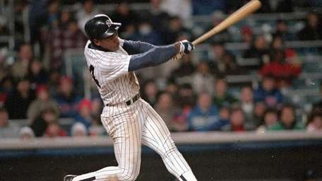 The Yankees' Rickey Henderson during a game against