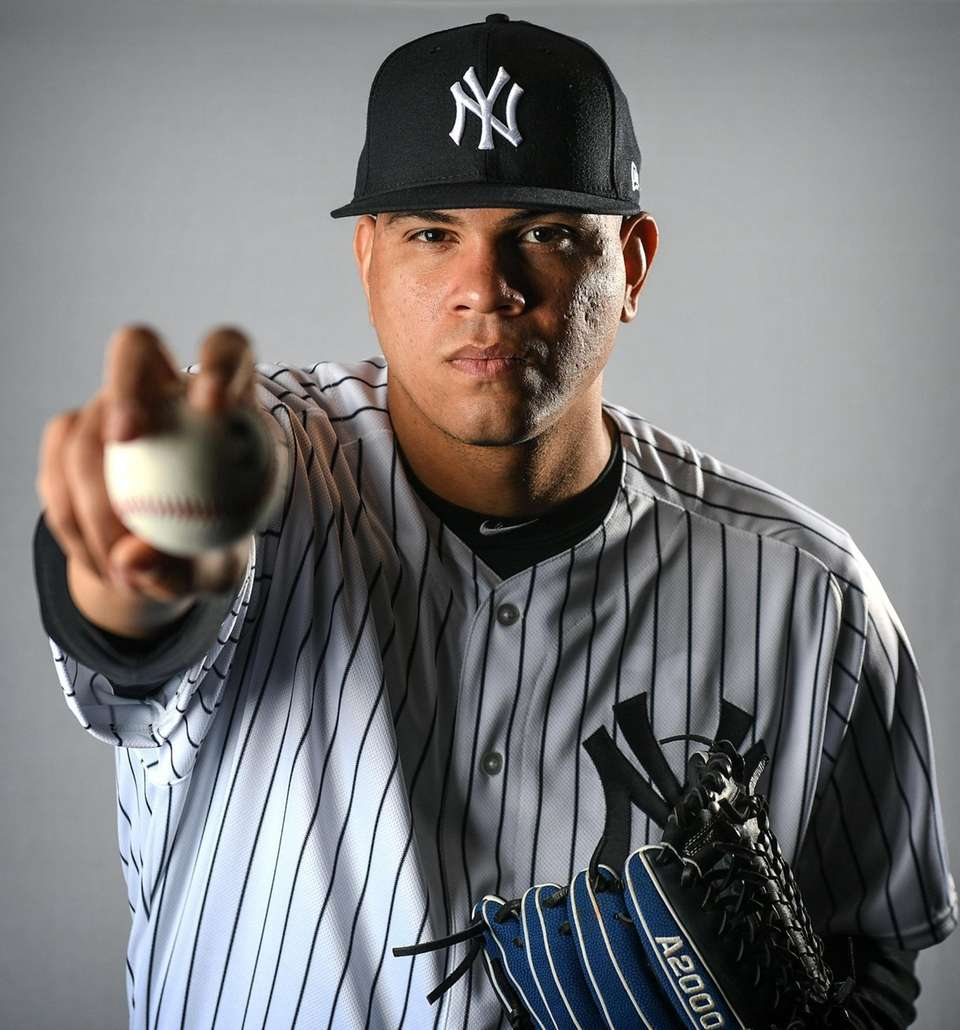 New York Yankees Dellin Betances during Spring Training