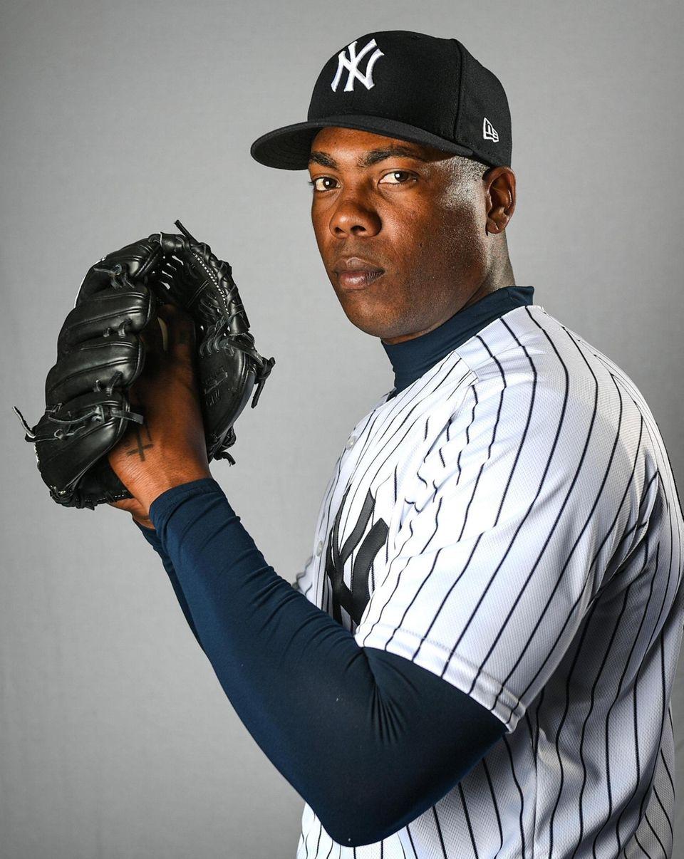 New York Yankees Aroldis Chapman during Spring Training