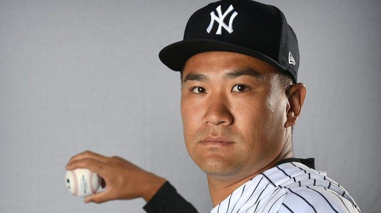 Yankees starting pitcher Masahiro Tanaka during spring training
