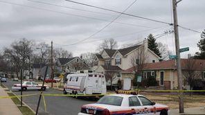 Police continue to monitor the scene where Nassau