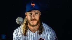 New York Mets pitcher Noah Syndergaard during spring