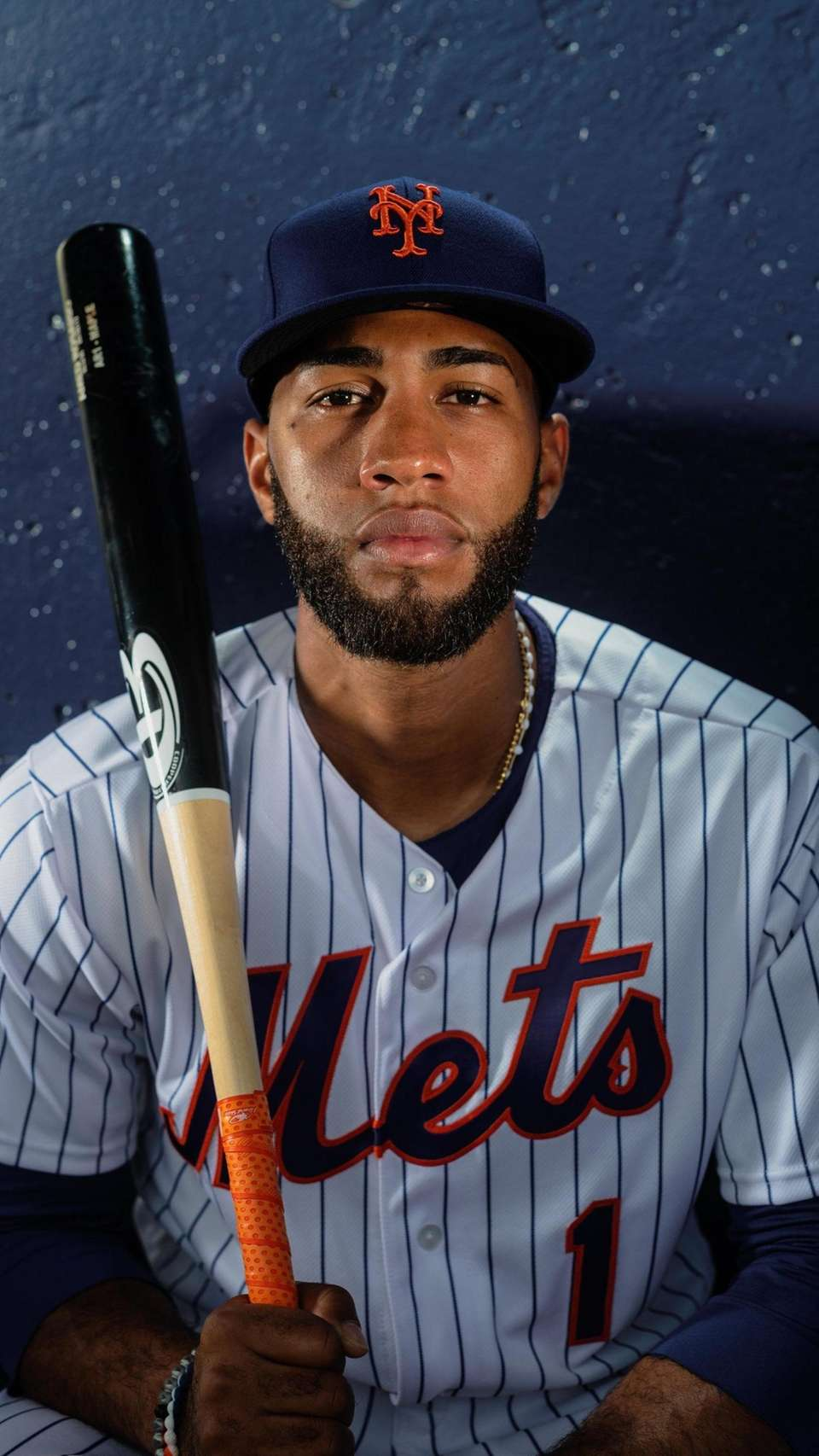 New York Mets infielder Amed Rosario during spring