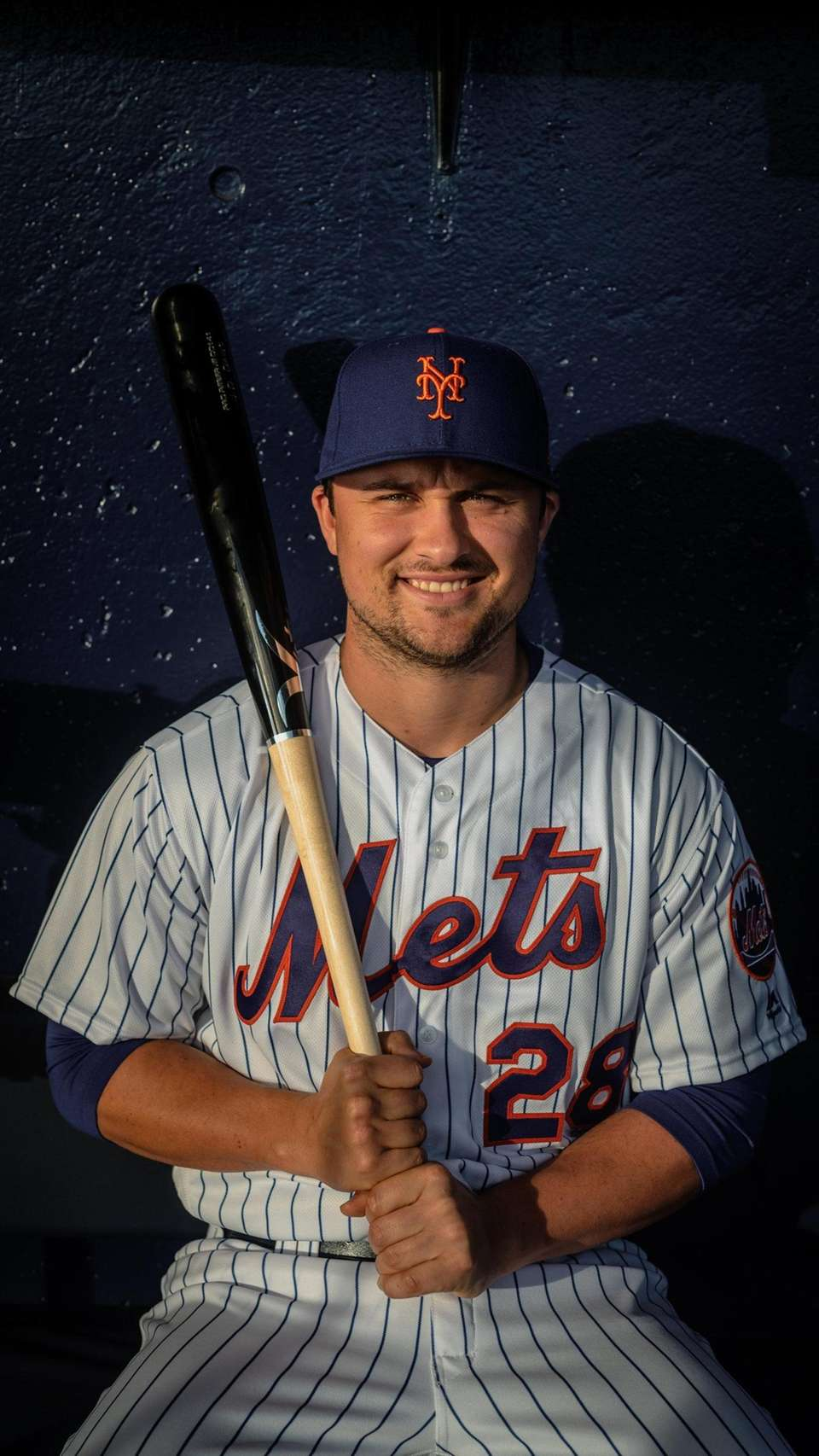 New York Mets infielder J.D. Davis during spring
