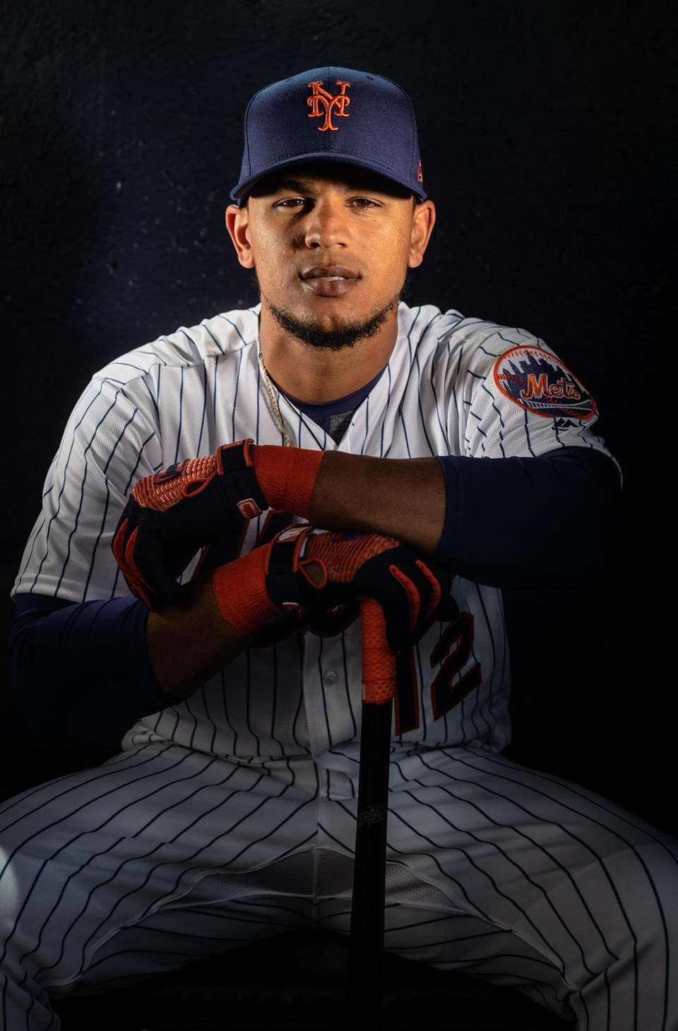 New York Mets outfielder Juan Lagares during spring