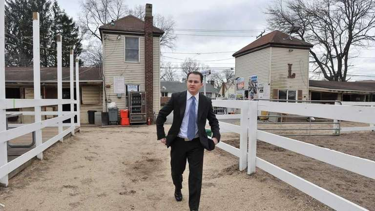 Owner Alex Jacobson walks the grounds of Lakewood