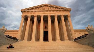 The U.S. Supreme Court is seen at near