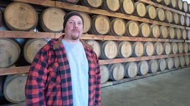 Pindar Vineyards' newly named winemaker Erik Bilka, seen