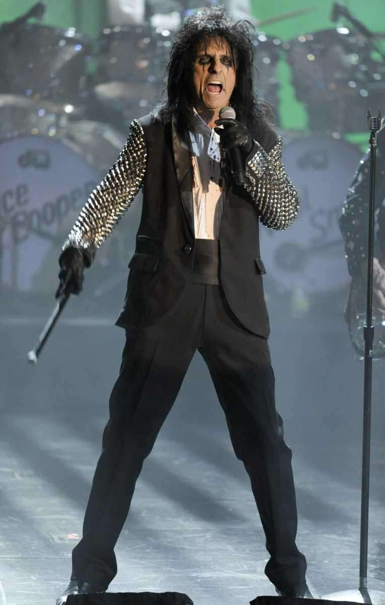 Alice Cooper performs at the Rock and Roll