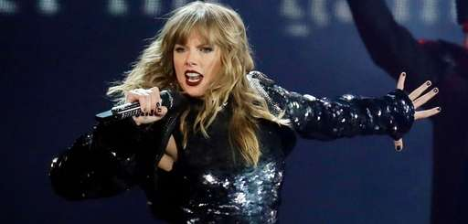 """Taylor Swift performs during her """"reputation"""" tour in"""