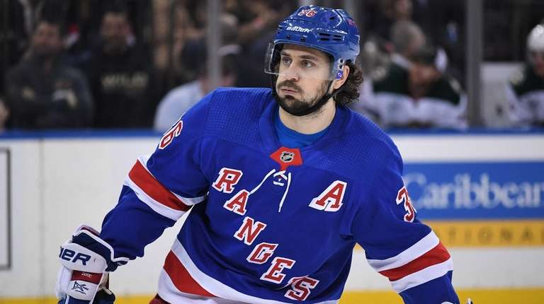 Rangers right wing Mats Zuccarello skates against the