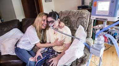 Debbie Vigliotti and her son, Nicolas, 20, share