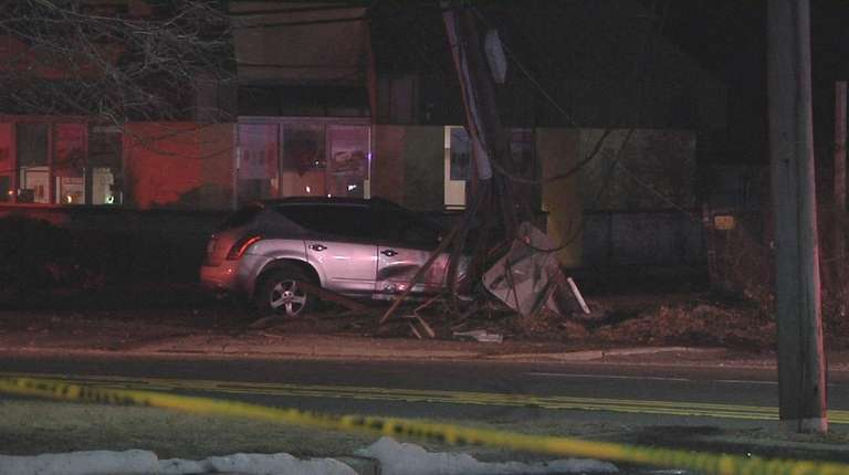 Driver killed as SUV hits utility pole, police say