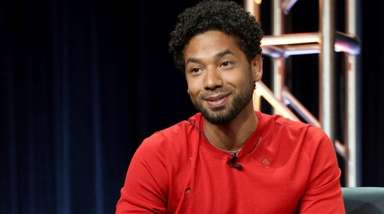 "Jussie Smollett at an ""Empire"" panel during the"
