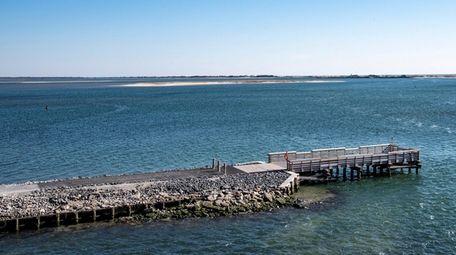 The renovated Ponquogue Bridge fishing pier in Hampton