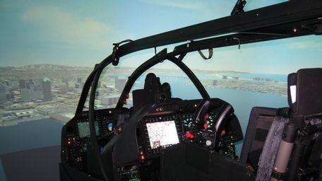 Inside the new AH-1Z full motion cockpit simulator