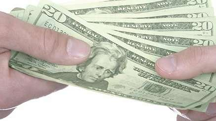 Cash changing hands