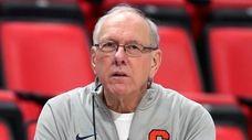 Syracuse head coach Jim Boeheim watches during a