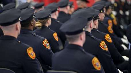 Suffolk County police recruits graduate in March 2017.