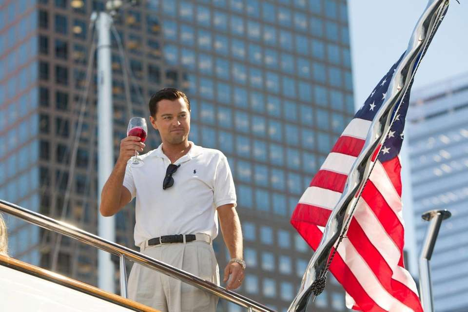 "Leonardo DiCaprio plays Jordan Belfort in in """