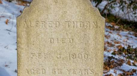 The only clearly marked gravestone at a newly