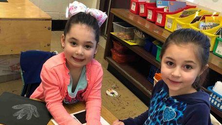 Kindergartners in Cris Cusati's class at Smithtown Elementary