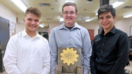 Engineering students Joseph DiBiasi, Justin Rosado and Hunter
