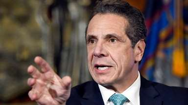 Gov. Andrew M. Cuomo is seen on Feb.