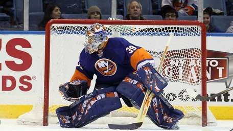 Rick DiPietro during a game against the Carolina