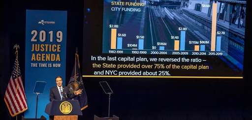 New York Gov. Andrew M. Cuomo delivers the