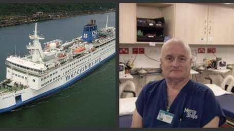 Massapequa Park RN Anthony Amato is aboard Mercy