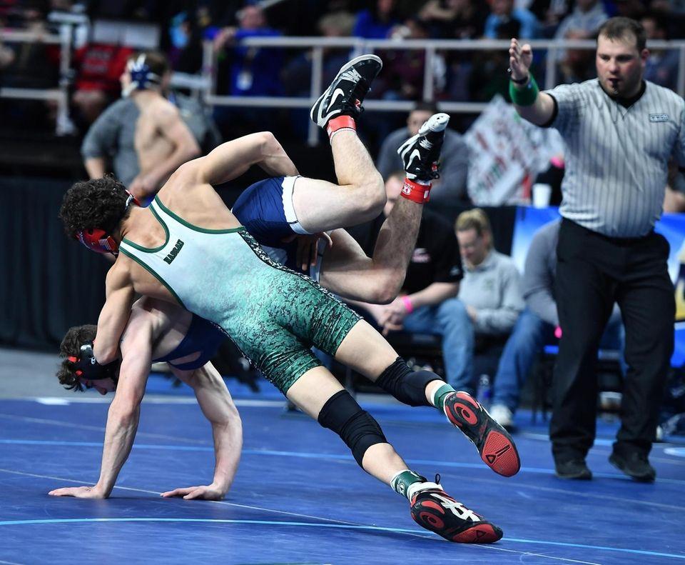Jonathan Spadafora, Half Hollow Hills East, blue, wrestling