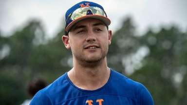 New York Mets outfielder Michael Conforto during a