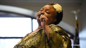 Singer Rhonda Denet performed as part of