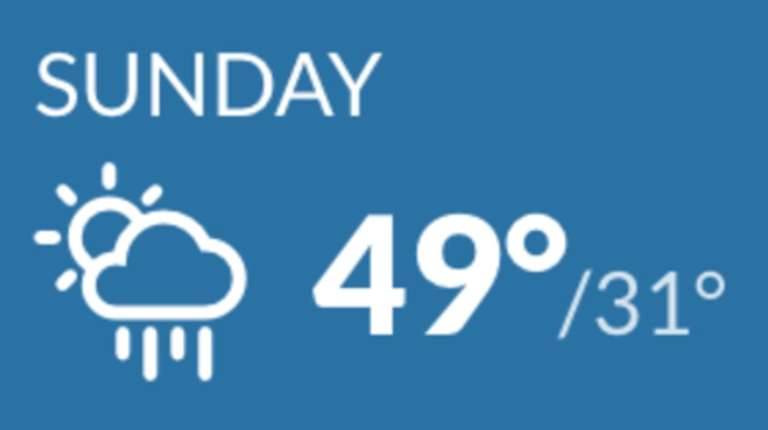 A view of the forecast for Feb. 24,