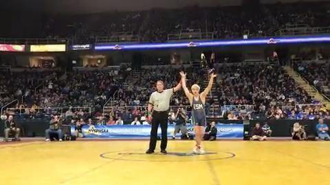 Eastport-South Manor's Adam Busiello defeated Niagara Falls' Willie
